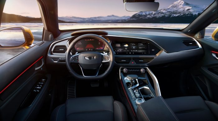 Interior Of Geely S New Sports Coupe Suv Unveiled Geely